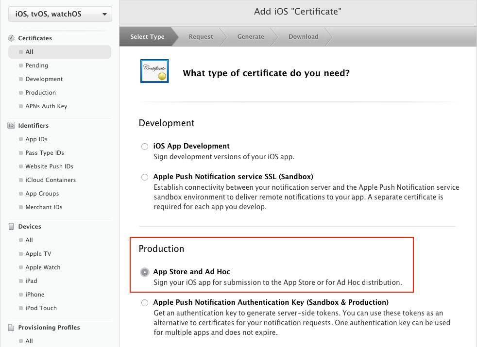 Apple iOS Distribution Zertifikat erstellen – Hilfe Center