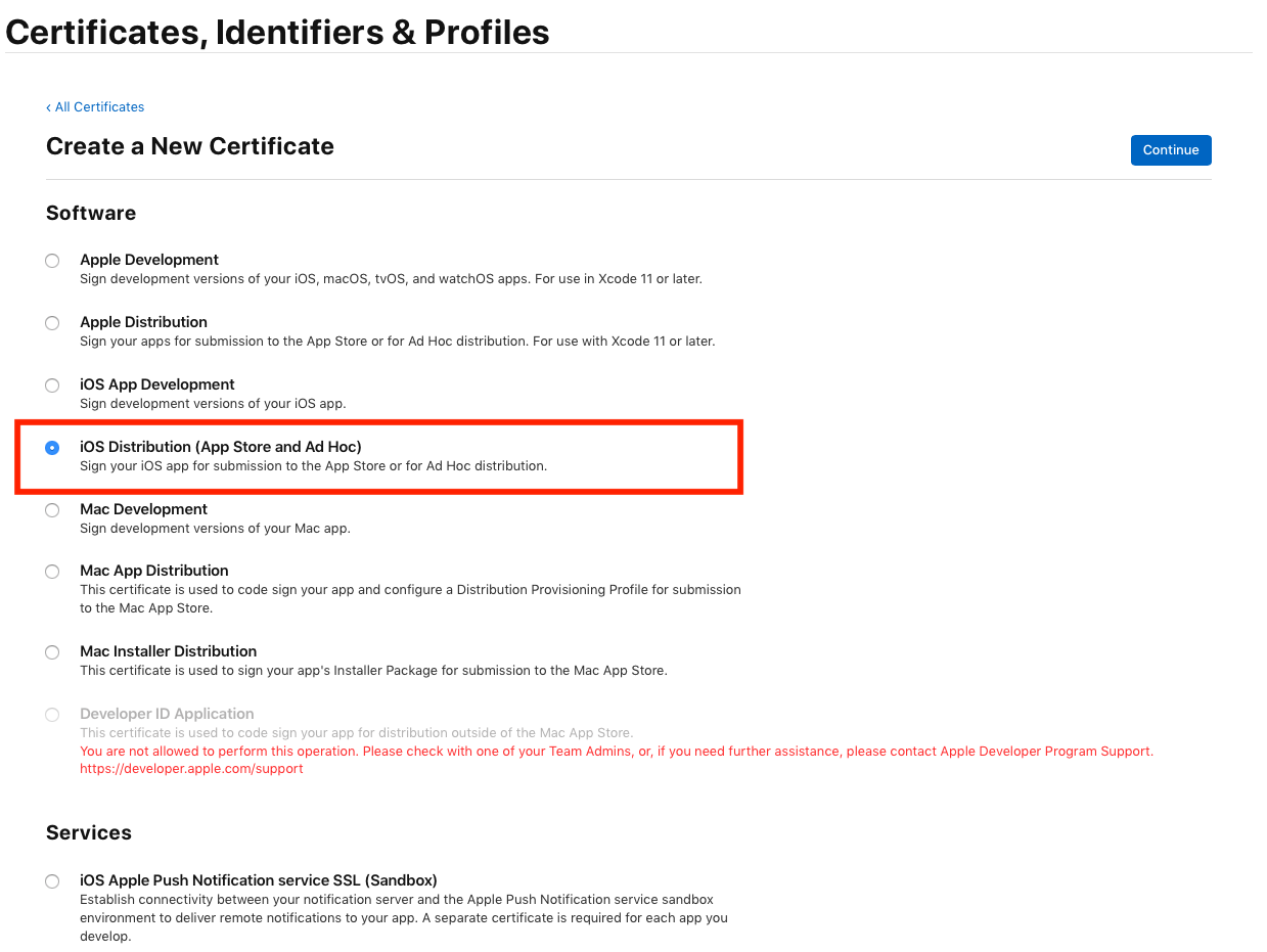 Creating an iOS Distribution Certificate – Help Center